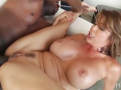 Astonishing big breasted MILF Alexis Fawx is analfucked by BBC Eye dialect guv'nor