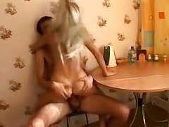 Inane Bitchy Blonde Banged On The Table
