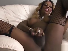 Matured ebony tgirl strokes their way fat flannel