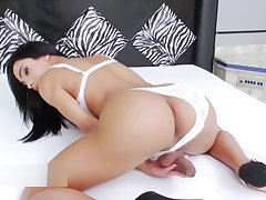 Big tits asian generalized masturbates alone