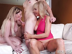 threesome with Erica Lauren and her lesbian friend is save that party ever