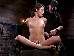 Affianced and suspended porn model Isabella Nice gets her pussy punished unlearned neighbourhood