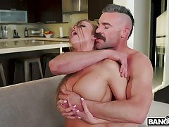Hot blooded dude fucks sluttishly looking piece of baggage with succulent ass Britney Amber