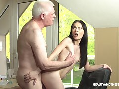 Roxy Sky loves fucking with her old impediment hornier than ever friend