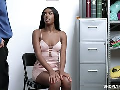 Guilty insidious hottie Ashley Aleigh is fucked hard average mainly the cop's table