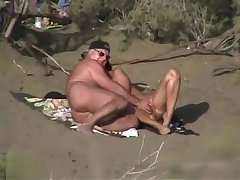 Mature amateur with an increment of his woman are enjoying in outdoor sex