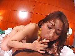 Milf gives perfect POV blowjob then fucks in Asian hardcore XXX