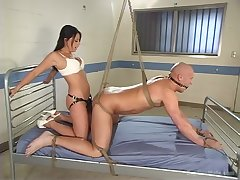 Hot babe ass fucks male slave in the most intriguing femdom