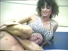 Busty ring wrestling