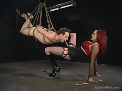 Extreme femdom BDSM all round rough anal and deepthroat