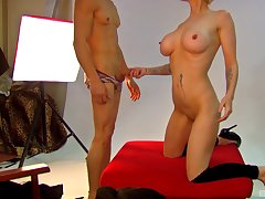 Nice fake tits Mila Milan drops her clothes and gets fucked