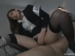 Policewoman Aina Maria connected with amazing body fucked on rub-down the table