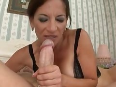 Arousing Mommy Melissa Monet Fucks Young Cock