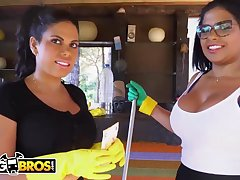 Brazilian maids, Sheila Ortega and Kesha Ortega frequently get drilled instead be expeditious for mode their job