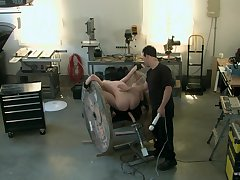 Roasting man ass fucks obedient slave girl at hand brutal BDSM