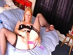 English girl videos herself masturbating