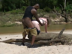 Chubby wife goes to Africa for a real hard dick