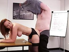 Pulchritudinous Candi Blows sucks off her boss and gets fucked immigrant behind