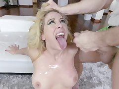 Video of slutty blonde model Cherie DeVille having wild sex