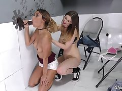 GloryHole giving head, Ejaculant with mouth, Jizz Swallow Jade Jantzen