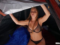 Nude MILF gets shared by the young step son and his friend