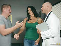 Insolent MILF lets her physician alongside stick it in her ass