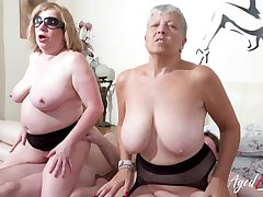 AgedLovE Busty British Matures Fast Group Sex