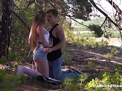 Goddess Alex Diaz heads out beside the woods for a romantic cease