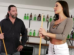 Pool then glory hole fun relating to a superb MILF Gia DiMarco