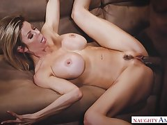 Alexis Fawx is so downcast with her flawless circle and she loves big jet-black cocks