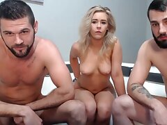 amateurish triplet on webcam - sexy couple be worthwhile for swingers and their friend