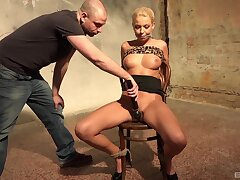 Blonde MILF secured up increased by restrained in rough maledom XXX